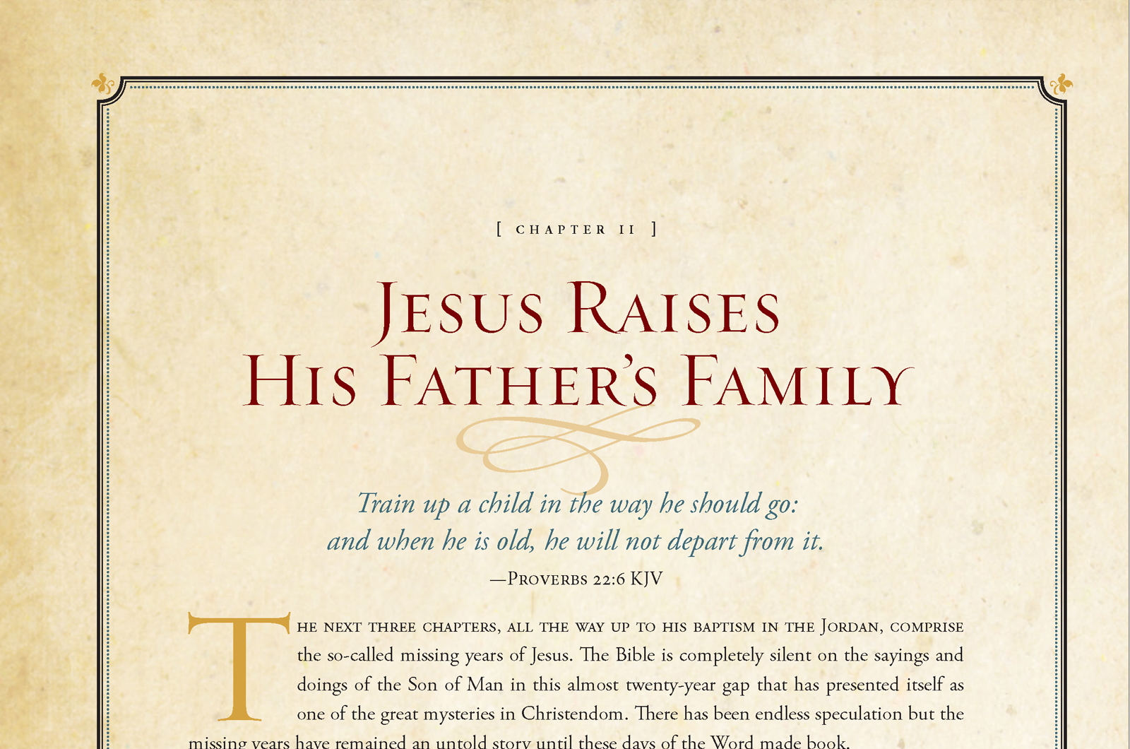 Sample inside page - The Untold Story of Jesus
